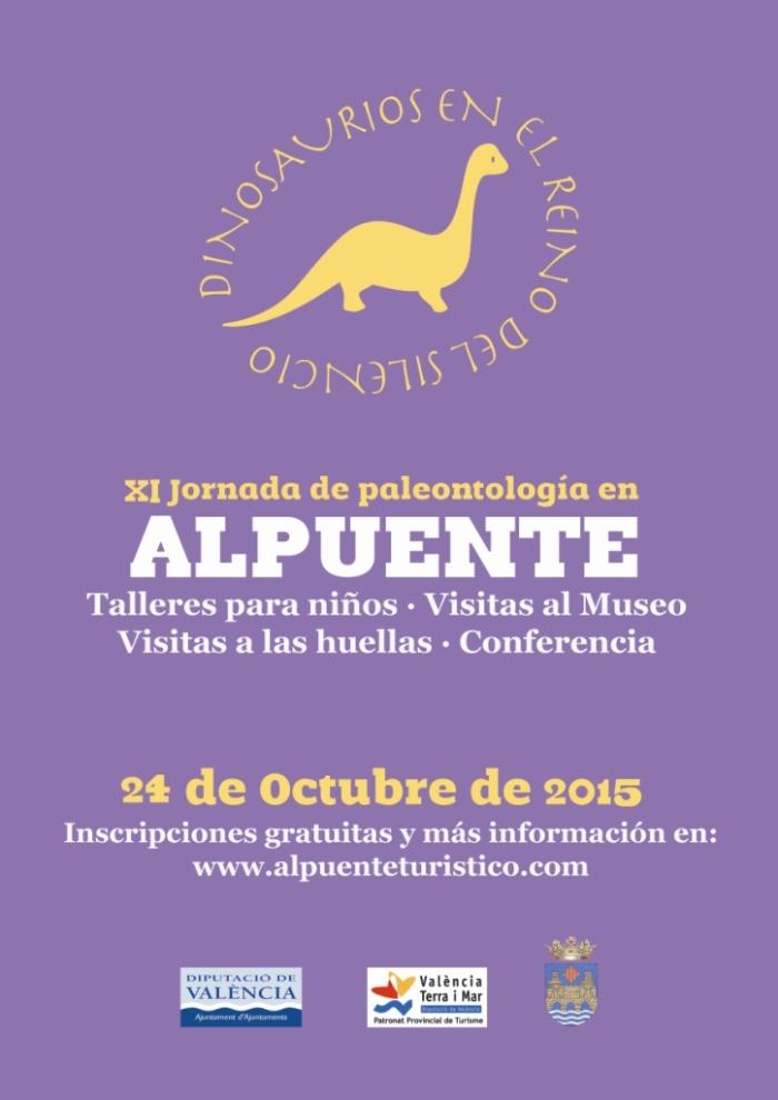 Cartel jornada paleontologica_2015