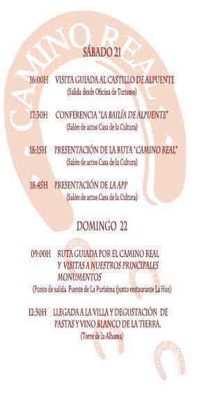 programa Jornadas Arqueología