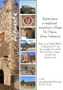 Cartel visitas en inglés 22 abril