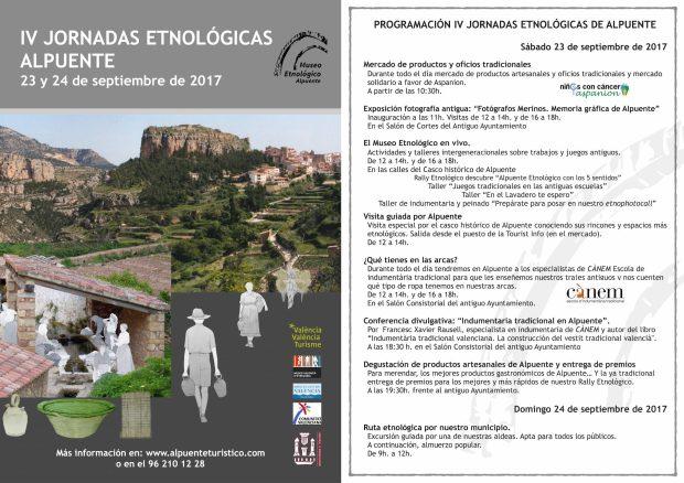 Cartel y programación JORNADAS ETNOLOGÍA 2017 copia 2 red